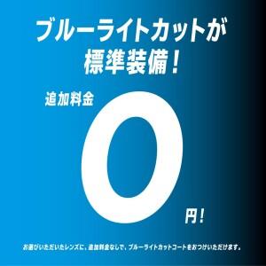 ブルーライトカットを追加料金0円へと価格改定します。