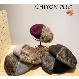 秋冬には欠かせないファー付きのお帽子★