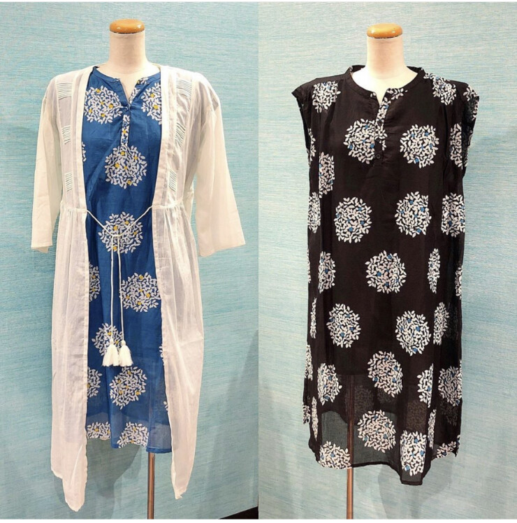 さらっと爽やかなインド綿のお洋服のご紹介です